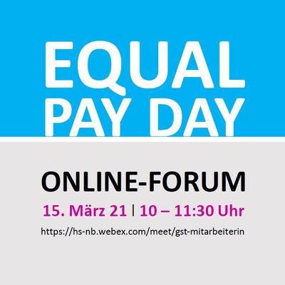 ONLINE-FORUM zum »EQUAL PAY DAY«